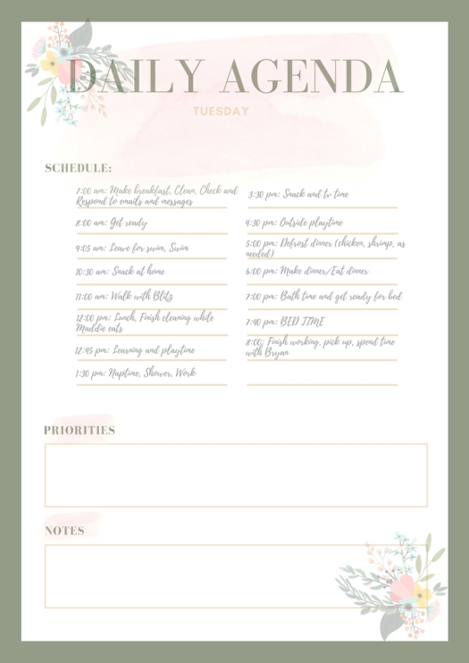 Pastel Bordered Personal Planner (2)