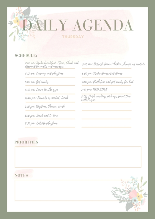 Pastel Bordered Personal Planner (4)